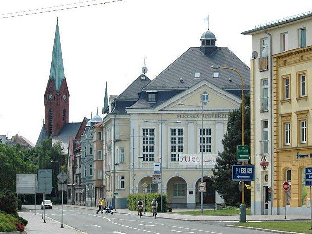 Budova rektorátu Slezské univerzity.