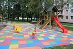 Dětské hřiště v Olomoucké ulici.