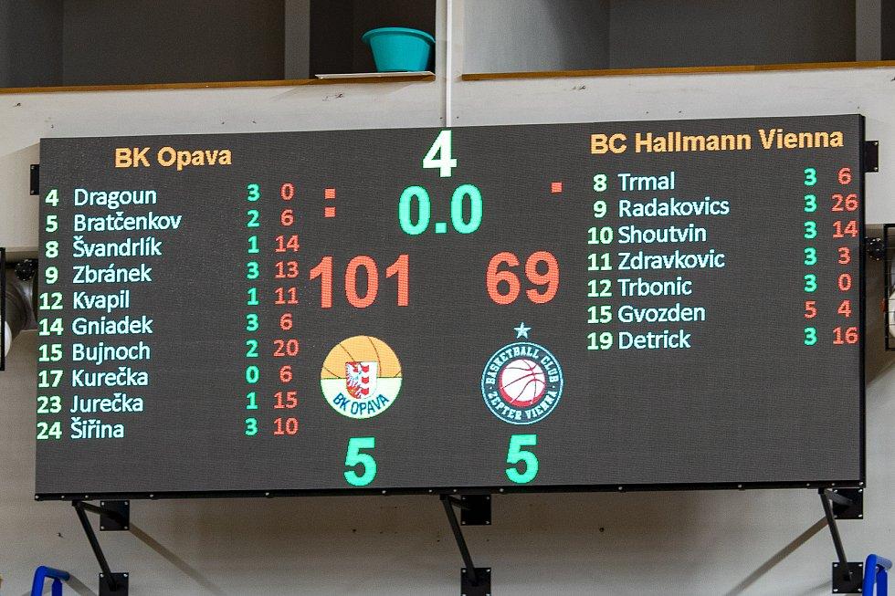 BK Opava – BC Hallmann Vídeň 101:69.