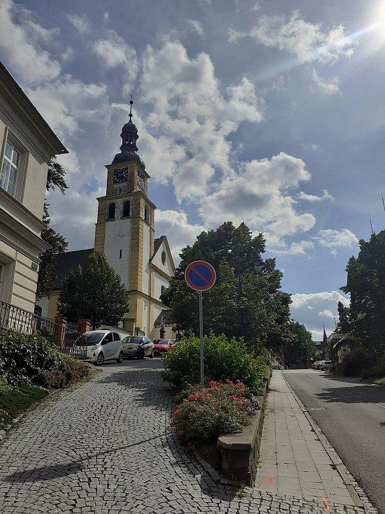 Kostel sv. Petra a Pavla v Hradci nad Moravicí.