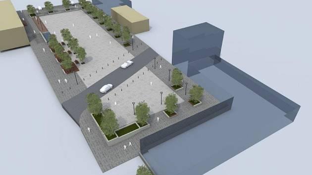 Vizualizace náměstí Bolatice.