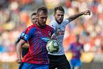 Plzeň - Zápas fotbalové FORTUNA:LIGY mezi FC Viktoria Plzeň a SFC Opava 25. srpna 2019. Petr Zapalač (SFC Opava).