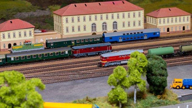 Železniční modeláři ve Lhotě u Opavy