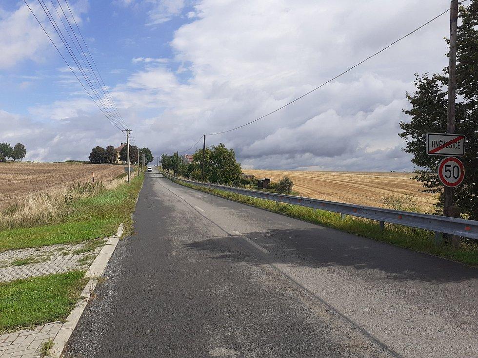 Cesta směrem k polské hranici.
