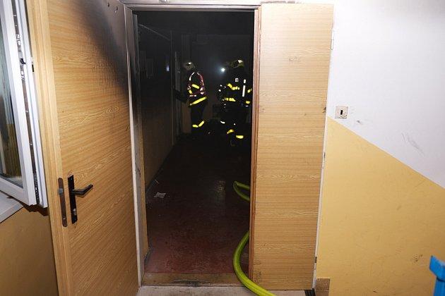 Požár bytu vHlučíně.