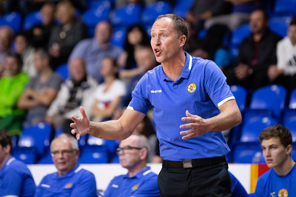 Trenér opavských basketbalistů Petr Czudek.