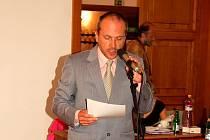 Michal Krejčí na úterním zasedání zastupitelstva.