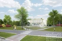 Prostranství před Kulturním domem Hlučín by v budoucnu mohlo vypadat takhle.