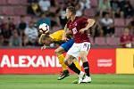 Zápas 1. kola FORTUNA:LIGY mezi AC Sparta Praha a SFC Opava 21. července 2018 v Generali areně v Praze. David Puškáč - o, Lukáš Štětina - acs.