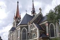 Kostel ve Vítkově.