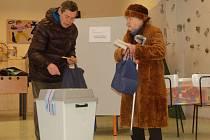 Někteří lidé nevynechají žádné volby, a to ať se děje cokoli. Jako například pětaosmdesátiletá Jarmila Kubánková na fotografii.