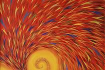 Obraz Renaty Charouskové s názvem Proud myšlenek.