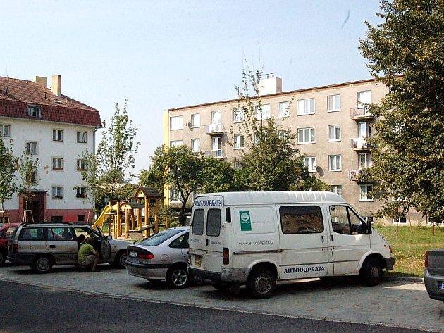 Město Hlučín, sídliště v ulici U Stadionu. Ilustrační foto.