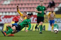Zápas FORTUNA:LIGY mezi 1. FK Příbram a SFC Opava 5. dubna 2019. Václav Juřena (SFC Opava).