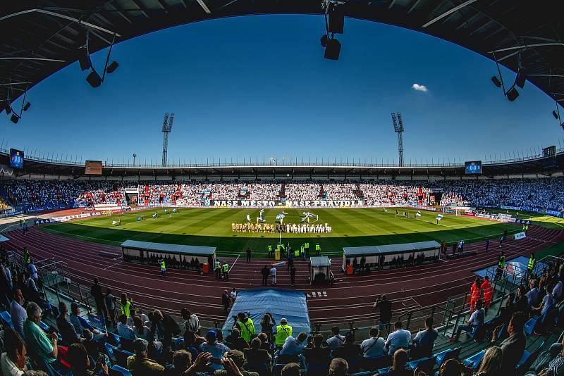 Utkání 29. kola první fotbalové ligy: FC Baník Ostrava - Slezský fotbalový klub Opava, 21. dubna 2019 v Ostravě.