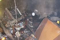 Požár v pokoji rodinného domku ve Vítkově.