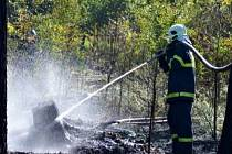 Dva středeční odpolední požáry u Hatě.