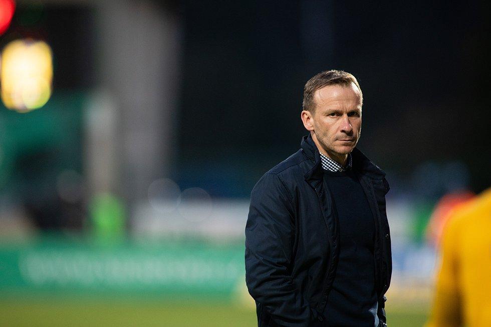 Zápas FORTUNA:LIGY mezi 1. FK Příbram a SFC Opava 5. dubna 2019. Trenér SFC Opava Ivan Kopecký.