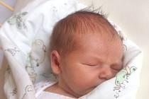 """Tomáš Sentenský se narodil 19. července, vážil 3,65 kg a měřil 51 cm. Rodiče Pavel a Lucie z Kravař přejí svému prvnímu miminku """"hlavně štěstí a zdraví""""."""