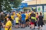 Pochod fanoušků Baníku Opavou, pátek 2. srpna 2019.