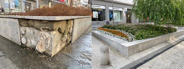 Ulice Hrnčířská před a po opravách.