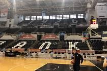 Dějiště zápasu basketbalové Ligy mistrů mezi Paok Soluň a BK Opava.