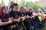 V sobotu pokračovaly v areálu Městské sportovní haly dvoudenní Havířovské slavnosti. Na snímcích David Koller a Band.