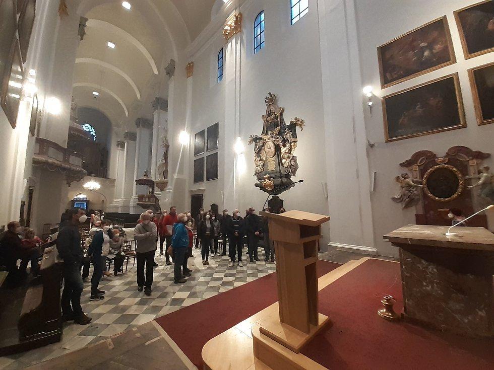 Noc kostelů v konkatedrále Nanebevzetí Panny Marie v Opavě, 28. května 2021.