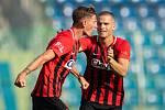 FK Mladá Boleslav - SFC ,18. srpna 2018. Na snímku Matěj Helebrand (SFC Opava) a Jan Schaffartzik (SFC Opava).