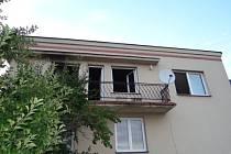 Zásah hasičů u požáru ve Vřesině na Opavsku.