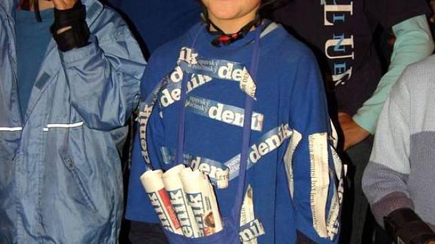 Linda Hermanová z Malých Hoštic patřila mezi vítěze.  Na tričku i přilbě měla loga Opavského a hlučínského deníku.