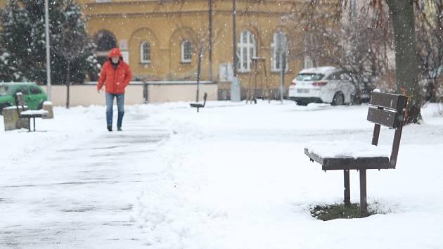 Sníh v Opavě. Ilustrační foto.
