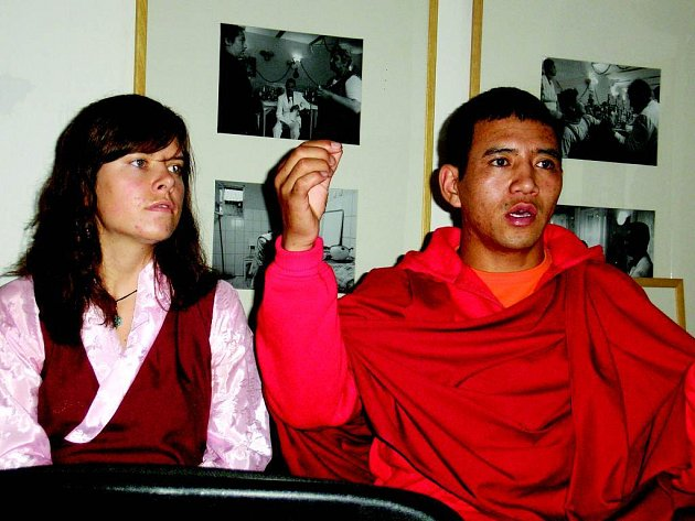Čhamba Norfail. Úplně poprvé si mohli lidé v Opavě poslechnout buddhistického mnicha.