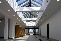 Nová vstupní hala správní budovy.