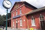 Vlakové nádraží v Hradci nad Moravicí.