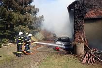 Požár v Kobeřicích způsobil téměř půlmilionovou škodu.