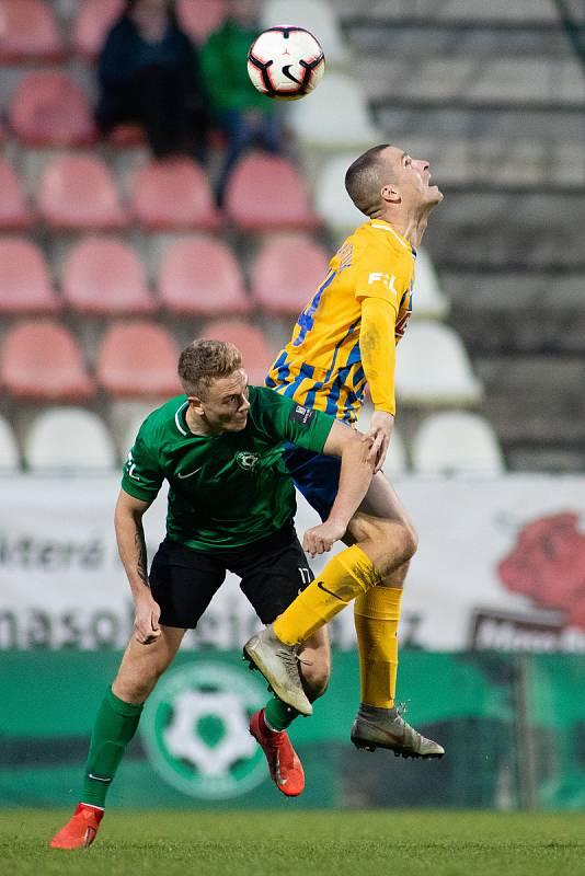 Zápas FORTUNA:LIGY mezi 1. FK Příbram a SFC Opava 5. dubna 2019. Jan Schaffartzik (SFC Opava).