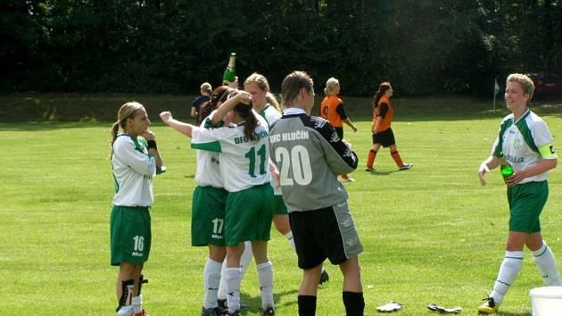 Hlučínská děvčata porazila Lubinu a slaví postup do první ligy.