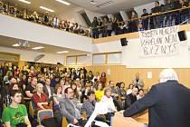 Zájem o akci v Opavě byl obrovský, kapacita jedné z největších poslucháren nestačila.