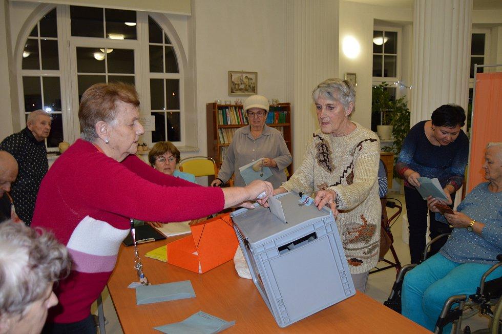 Prezidentské volby 2018 ve Vile Vančurova v Opavě.