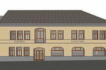 Náhled rekonstrukce budovy Babince. Vizualizace: archiv města Hradec nad Moravicí
