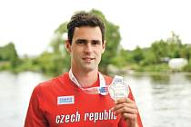 Jan Kudlička na venkovním evropském šampionátu v Amsterdamu získal stříbrnou medaili.