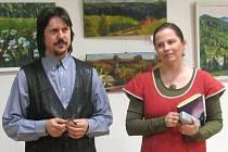 Jana Richterová s manželem Liborem při autorském čtení.