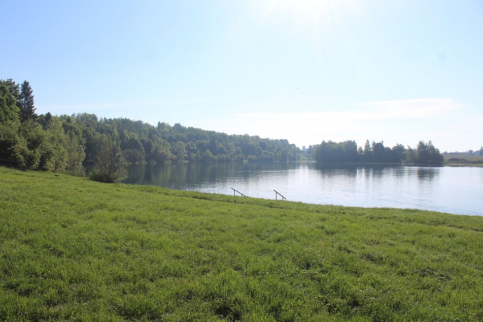 Revitalizace Stříbrného jezera v Opavě. 3. června 2021.