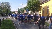 Fanoušci Zlína v Olomouci při cestě na Andrův stadion.