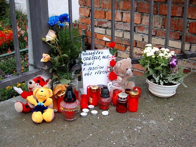 Ondrášku, odešel jsi, ale žiješ v srdcích nás všech. Takovýto nápis je u pomníčku dvacetiměsíčního Ondráška.