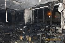 Škoda na kylešovické restauraci byla odhadnuta na dva miliony korun.