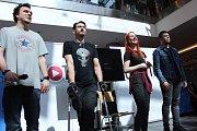 Pódium patřilo idolům fanoušků youtuberingu (zleva): Ati, Martin Rota, Natyla a Porty.