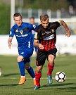 Vlašim - Zápas 23. kola Fortuna národní ligy mezi FC Vlašim a SFC Opava 22. dubna 2018 ve Vlašimi. Nemanja Kuzmanovič - o.