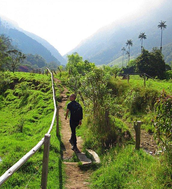MARTIN HÁJEK si vKolumbii prošel také vyhlášené malebné údolí Valle del Cocora.
